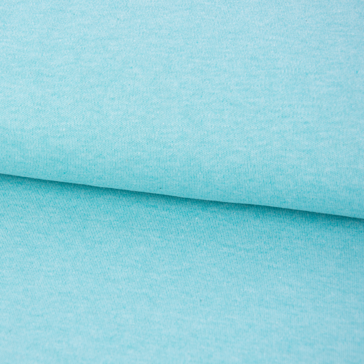 Bio Baumwolljersey Interlockjersey einfarbig mint meliert 1,40m Breite