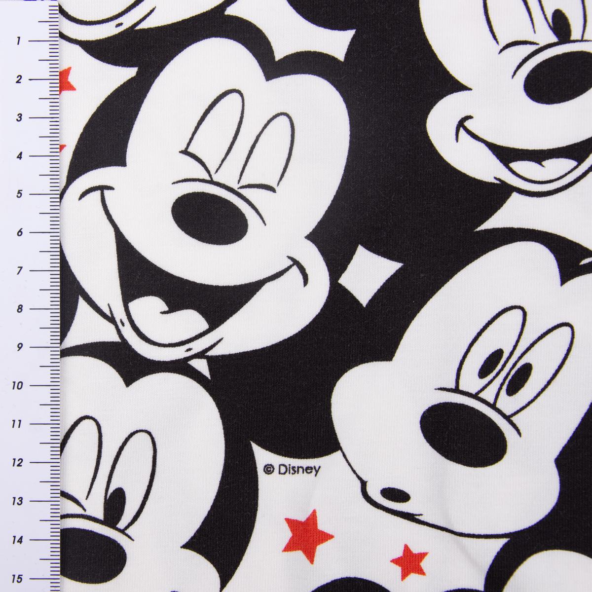 baumwolljersey jersey disney micky maus sterne wei schwarz rot 1 50m breite alle stoffe stoffe. Black Bedroom Furniture Sets. Home Design Ideas