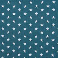 Baumwollstoff Sterne ca. 1x1cm petrol weiß 1,40m Breite