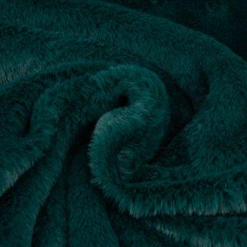 Fellimitat Webpelz Kunstfell dunkelgrün 1,5m Breite – Bild 2