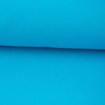 Kreativstoff Strickschlauch Bündchenstoff Organic Bio Baumwolle grob türkis 43cm Breite – Bild 1