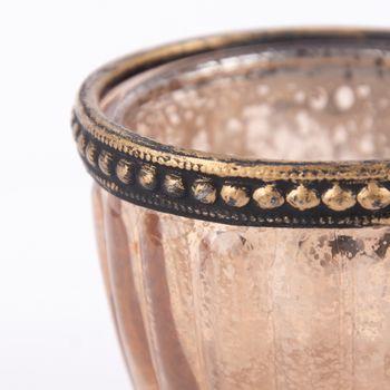 Teelichthalter mit Metallrand farbig 6x4,5cm – Bild 8