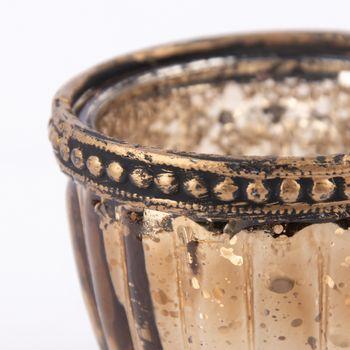 Teelichthalter mit Metallrand farbig 6x4,5cm – Bild 5