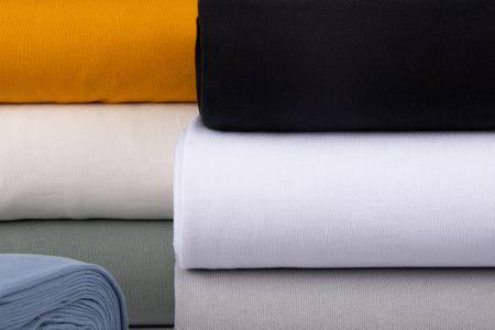 Strickstoff Baumwollstrick Bekleidungsstoff creme 1,60m Breite – Bild 6