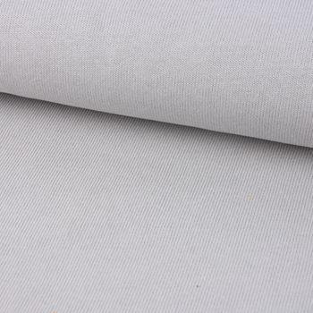 Strickstoff Baumwollstrick Bekleidungsstoff hellgrau 1,60m Breite – Bild 1