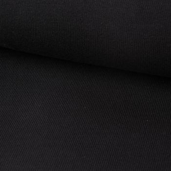 Strickstoff Baumwollstrick Bekleidungsstoff schwarz 1,60m Breite – Bild 1