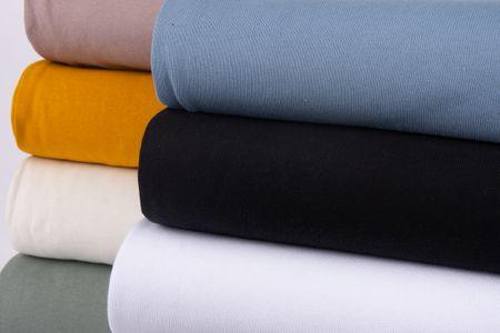 Strickstoff Baumwollstrick Bekleidungsstoff schwarz 1,60m Breite – Bild 8