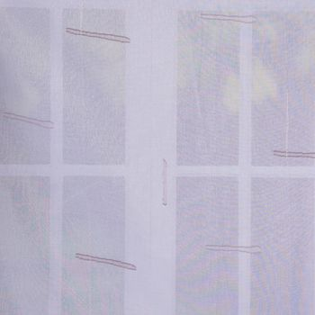 Stores Scherli Streifen mit Bleiband weiß braun taupe 300cm hoch – Bild 1