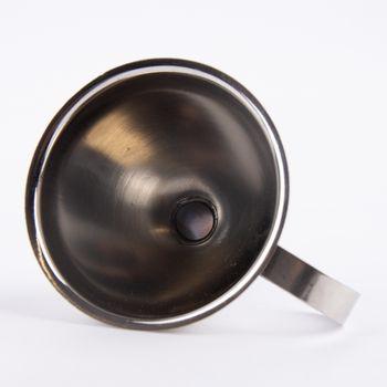 Trichter Metall silberfarbig 9x11,5x12cm – Bild 5