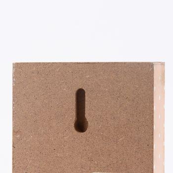 Clayre & Eef Schild -Be Brave Little one- Holz rosa 9x2x13cm – Bild 3