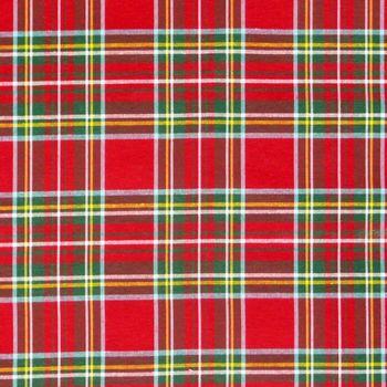 Dekostoff Baumwollstoff kariert rot grün gelb blau weiß 3,20m Breite – Bild 2