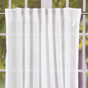Schal Fertiggardine mit Schlaufenband und Schnurstreifen weiß 145x245cm – Bild 1
