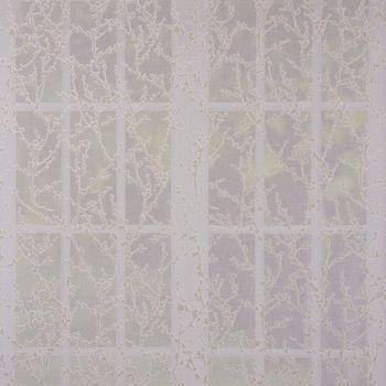 Gardinenstoff Dekostoff FLORALIS Leinenstruktur Scherli Blumenranken weiß taupe 1,45m Breite – Bild 1