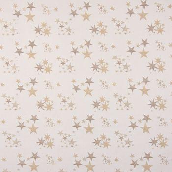 SCHÖNER LEBEN. Tischläufer Sterne beidseitig beige gold 40x160cm – Bild 3
