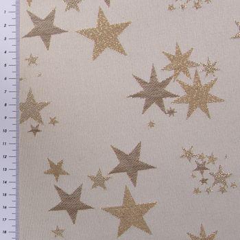 SCHÖNER LEBEN. Tischläufer Sterne beidseitig beige gold 40x160cm – Bild 6