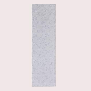 SCHÖNER LEBEN. Tischläufer Sterne beidseitig grau silber 40x160cm – Bild 2