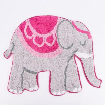 Sass & Bell Vorleger Elefant grau pink 51x66cm – Bild 1
