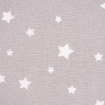 Tischdeckenstoff beschichtete Baumwolle Sterne grau weiß 1,55m Breite – Bild 2