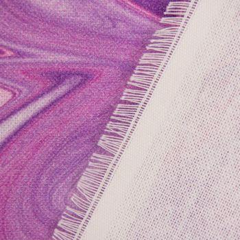 Baumwollstoff Stoff Dekostoff Digitaldruck Retro Batik lila pink 1,40m Breite – Bild 4