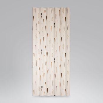 Baumwollstoff Stoff Dekostoff Digitaldruck Federn creme braun 1,40m Breite – Bild 5