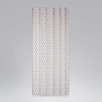 Dekostoff Jacquard-Stoff Dreiecke weiß schwarz Libelle gold 1,40m Breite – Bild 5