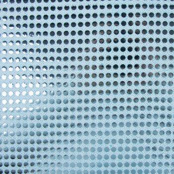 Kreativstoff Pailletten Lurex Stoff hellblau 6mmØ 1,1m Breite – Bild 1