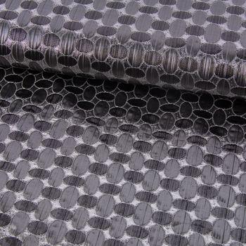 Faschingsstoff Jacquard Lurex Glitzer Ovale anthrazit silber 1,40m Breite – Bild 1