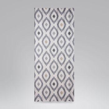 Dekostoff Baumwollstoff Mira Rauten Pinselstrich creme grau schwarz beige 1,4m Breite – Bild 6
