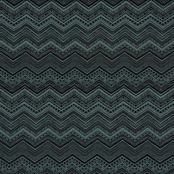 Gardinenstoff Dekostoff Chevron Zacken Inka petrol schwarz 1,4m Breite – Bild 1