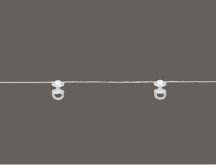 Gerster Drehgleiterkordel Kordel mit Drehgleiter Drehgleiterband Drehgleiterkordel Abstand 8cm für 6mm Lauf – Bild 1