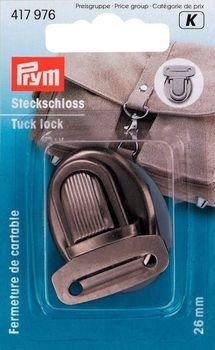 Prym Steckschloss Metall 26mm altsilber