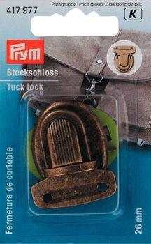Prym Steckschloss Metall 26mm altmessing