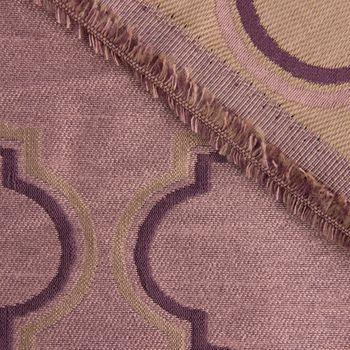 Gardinenstoff Dekostoff King Lear Ornamente rosé gold violett 1,5m Breite – Bild 4