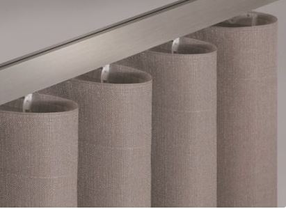 Newave Gardinenband Wellenband Taschenband volltransparent mit 2 Taschenreihen für 8cm Kette 80mm – Bild 1