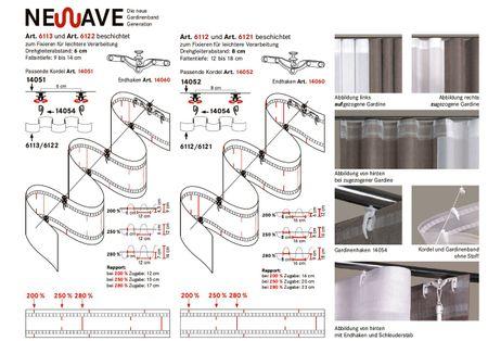 Newave Gardinenband Wellenband Taschenband volltransparent mit 2 Taschenreihen für 8cm Kette 80mm – Bild 8