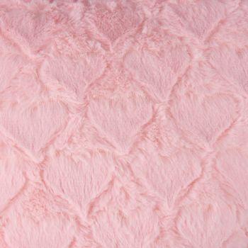 Magma Deko Kissen Fluffy Herzform mit Herzen rosa 40x35cm – Bild 2
