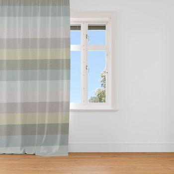 Dekostoff Baumwollstoff Streifen 9,5cm hellgrau grau mint petrol grün 1,40m Breite – Bild 3