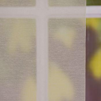 Gardine Paneele Schiebevorhang Meterware KOS taupe halbtransparent 60cm Breite – Bild 2