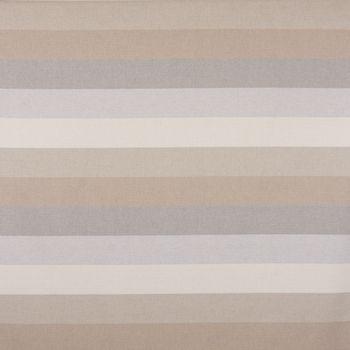 Dekostoff Baumwollstoff Streifen 9,5cm creme beige braun grau 1,40m Breite – Bild 1