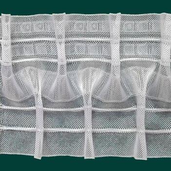 Schlaufen-Smokfalte Gardinenband Schlaufenband Smokband Schlaufen-Smokfalte 100mm volltransparent 1:2