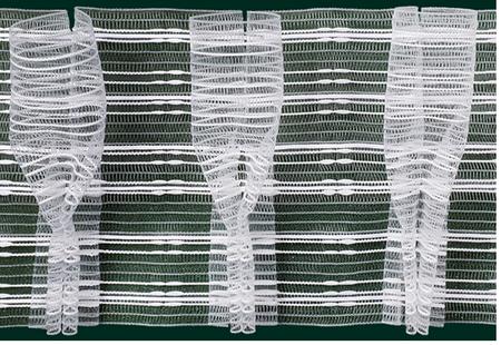 Gardinenband Faltenband Bonbonfalte Pokalfalte 150mm transparent 1:2,5
