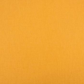 Dekostoff Gardinenstoff Bio Ramie Leinenoptik einfarbig senf gelb vorgewaschen 1,4m Breite – Bild 1