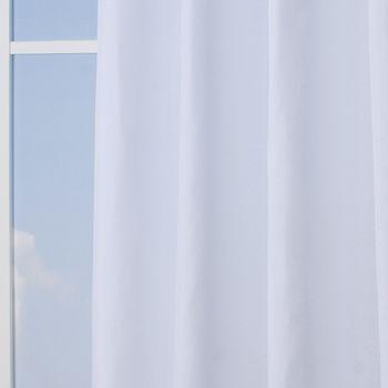 Ösenvorhang Brilliant Leinenoptik einfarbig weiß 140x245cm – Bild 5