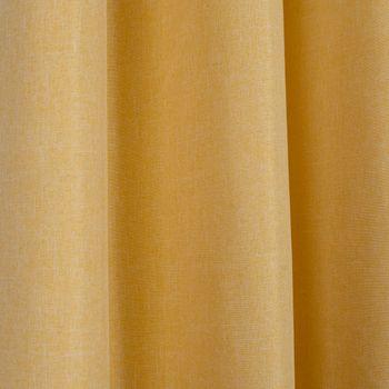 Ösenvorhang Brilliant Leinenoptik einfarbig gelb 140x245cm – Bild 6