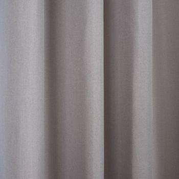 Ösenvorhang Brilliant Leinenoptik einfarbig hellgrau 140x245cm – Bild 6