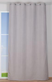 Ösenvorhang Brilliant Leinenoptik einfarbig hellgrau 140x245cm – Bild 10