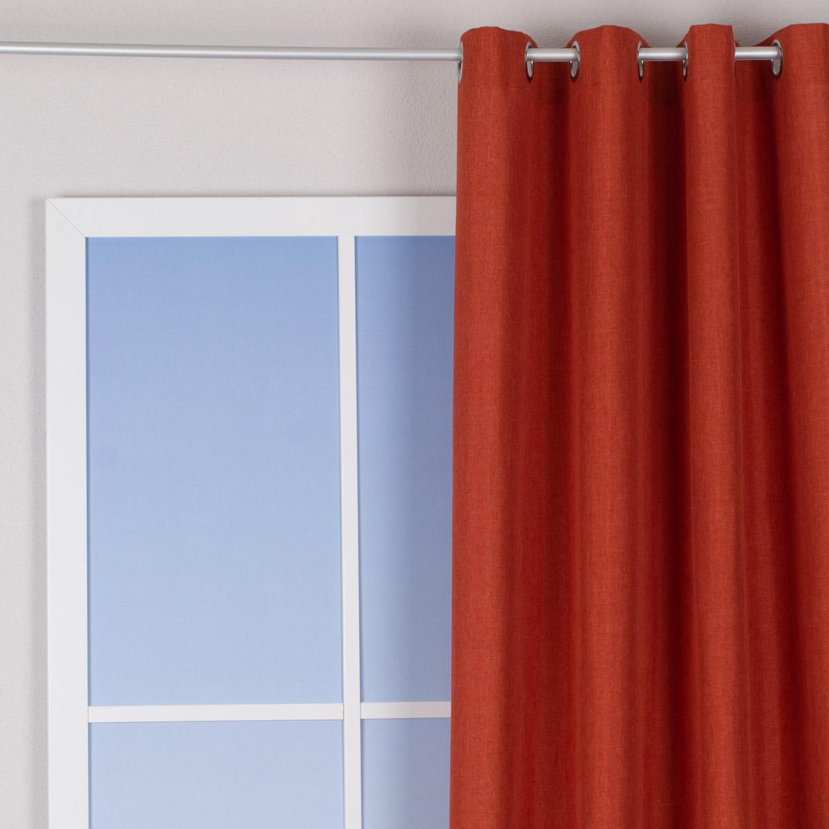 Vorhang Fertigvorhang Ösenschal einfarbig grau 140x245cm