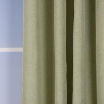 Ösenvorhang Brilliant Leinenoptik einfarbig hellgrün 140x245cm – Bild 4