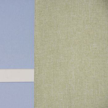 Ösenvorhang Brilliant Leinenoptik einfarbig hellgrün 140x245cm – Bild 6