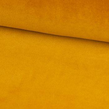 Bekleidungsstoff Nicky einfarbig ocker gelb 1,5m Breite – Bild 1